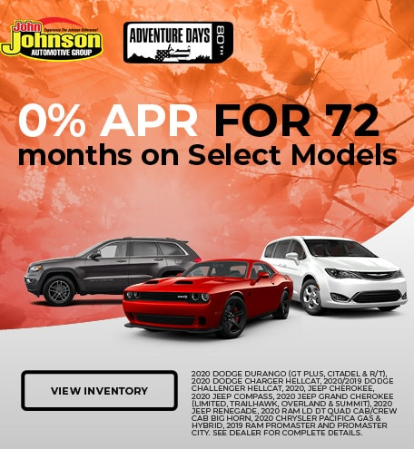 0% APR for 72 months on Select Models