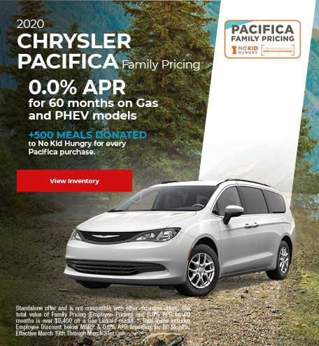 2020 Chrysler Pacifica Family Pricing