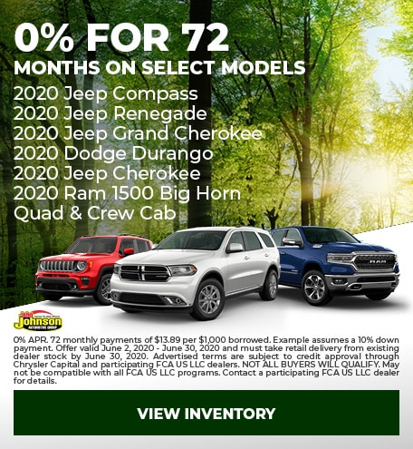 0% for 72 Months On Select Models