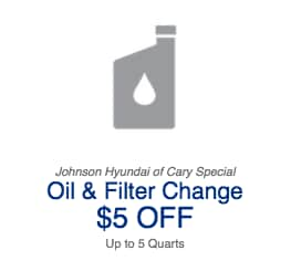 $5.00 Off Hyundai Oil Change