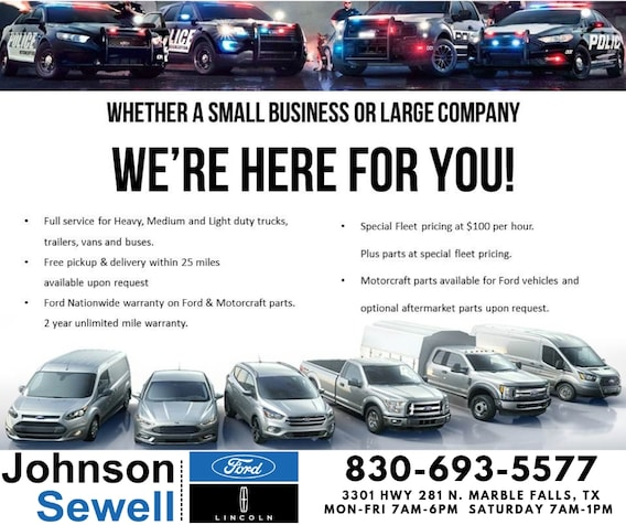 Ford Service Specials Johnson Sewell Ford