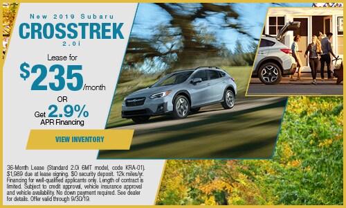 2019 Subaru Crosstrek - September