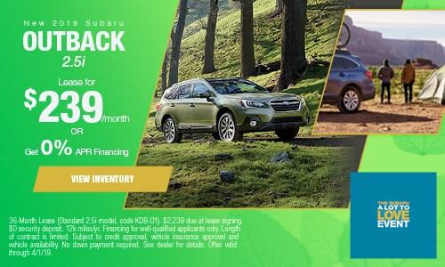 2019 Subaru Outback  - March