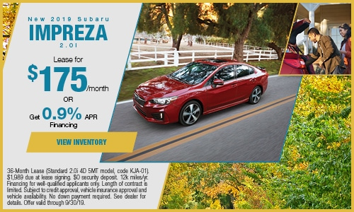 2019 Subaru Impreza - September