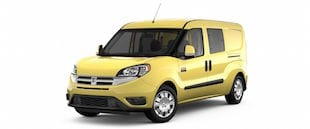 A yellow Ram Promaster City