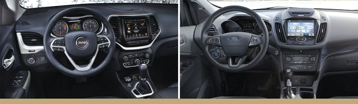 2017 Jeep Cherokee vs 2017 Ford Escape Interior