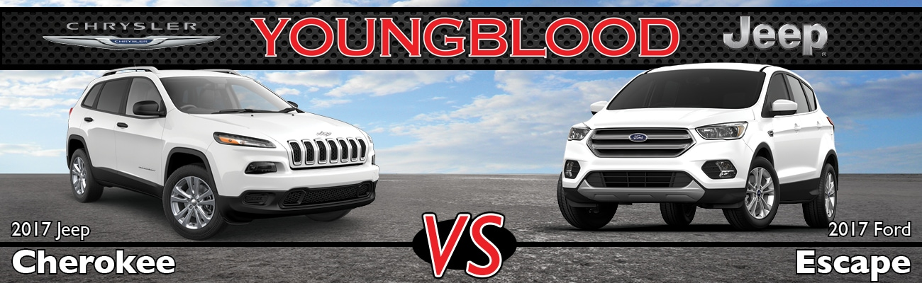 2017 Jeep Cherokee vs 2017 Ford Escape