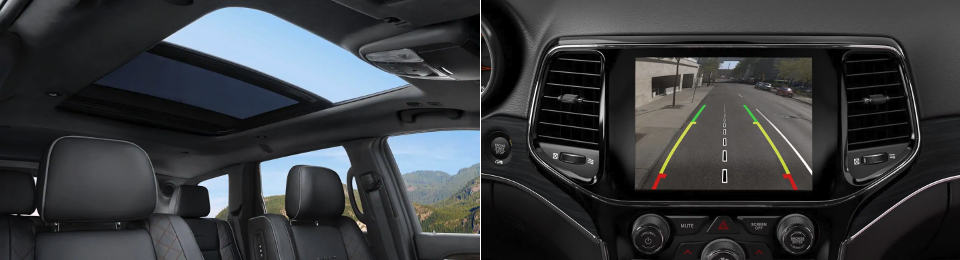 2019 Jeep Grand Cherokee Interior dashboard and sunroof