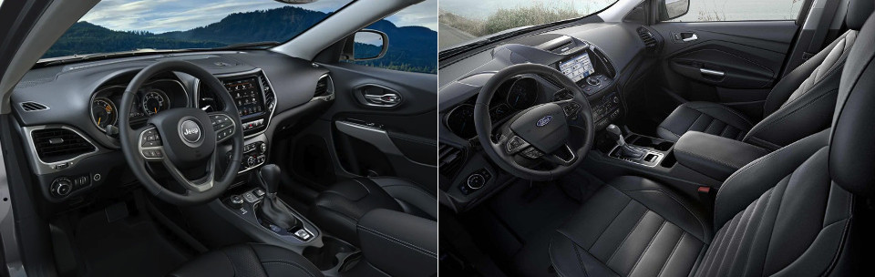 2019 Jeep Cherokee and Ford Escape Interior