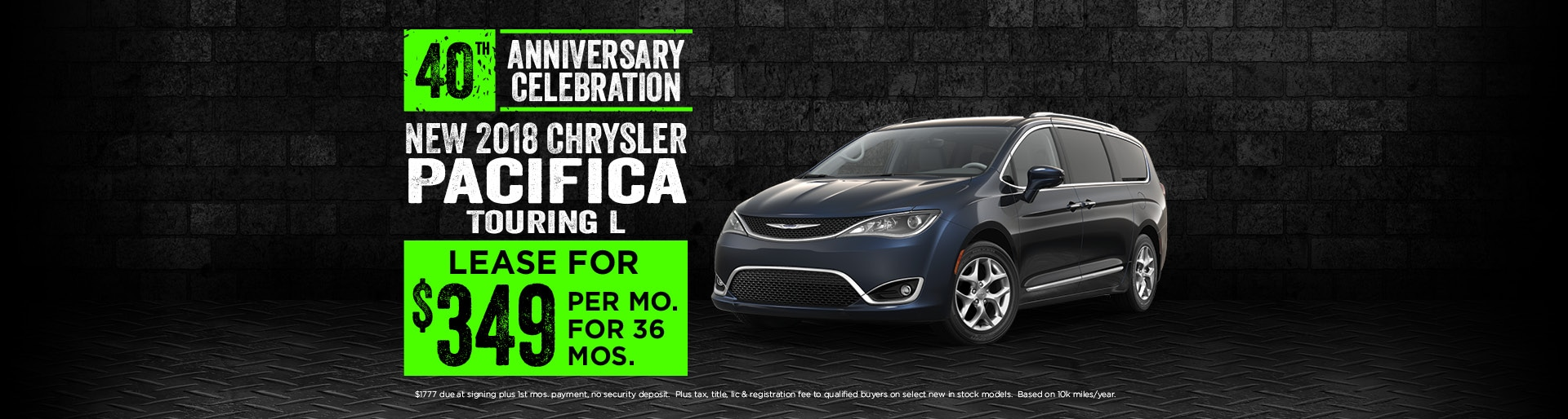 2018 Chrysler Pacifica Lease deals