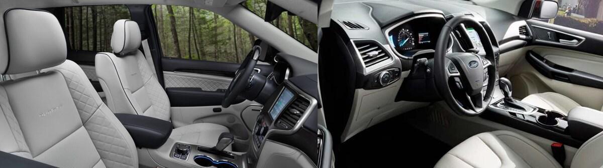 Jeep Grand Cherokee Vs  Ford Edge Interior Comparisons Near Ozark Mo