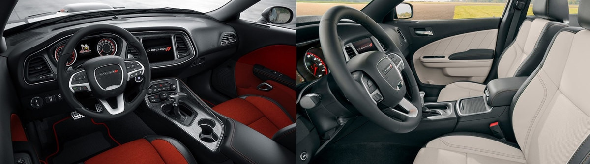 2018 Dodge Challenger vs. 2018 Dodge Charger Interior Comparison in Ozark, MO
