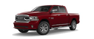 A red Ram 1500