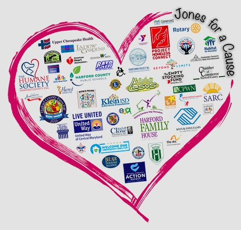 Jones for a Cause Heart