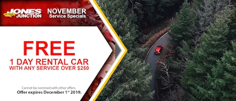 Free 1 Day Rental Car With Any Service Over $250
