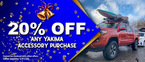 20% OFF ANY YAKIMA ACCESSORY PURCHASE