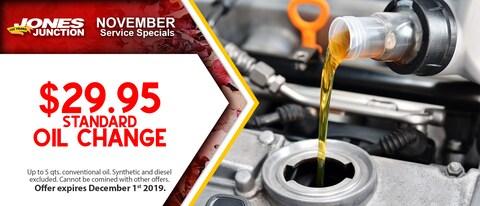 $29.95 Standard Oil Change