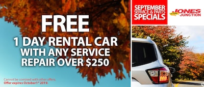 Free 1 Day Rental Car With Any Service Repair Over $250