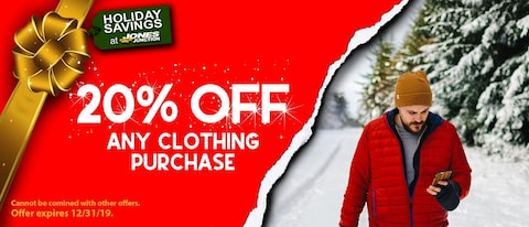 20% OFF ANY CLOTHING PURCHASE