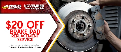 $20 OFF Brake Pad Replacement Service