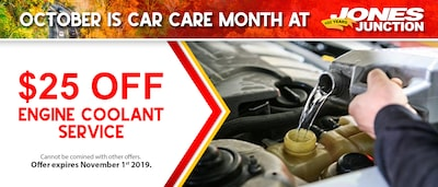$25 Off Engine Coolant Service