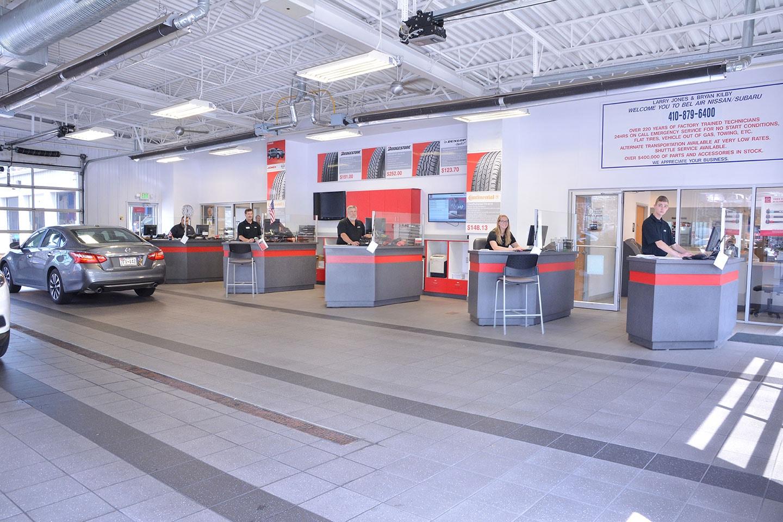 Bel Air Nissan Service >> Service Center Jones Bel Air Nissan
