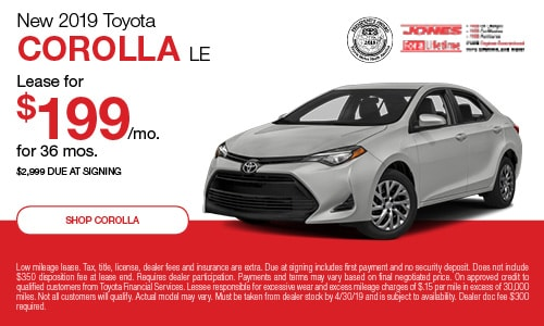 April | 2019 Corolla