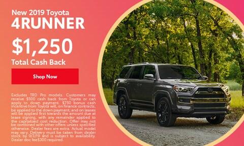 August   2019 Toyota 4Runner