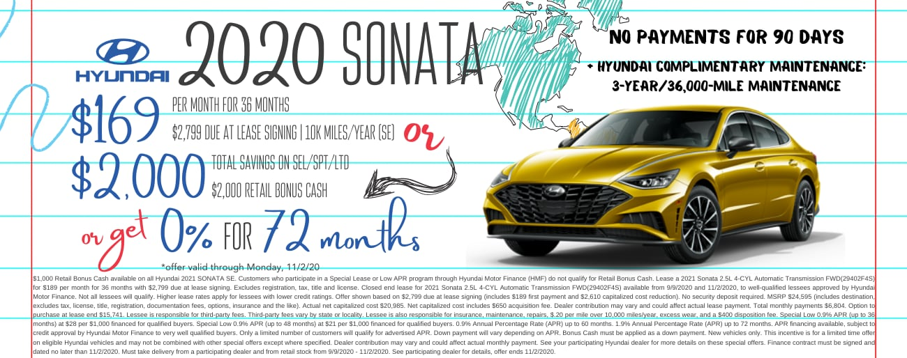 Find the perfect lease special on a new Hyundai Sonata in Dayton OH today.