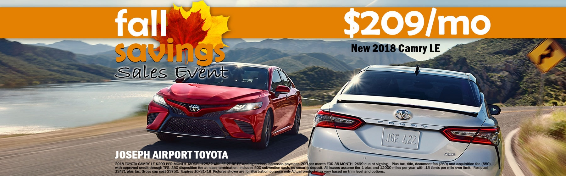 Toyota Camry Lease Special September 2018 in Dayton OH