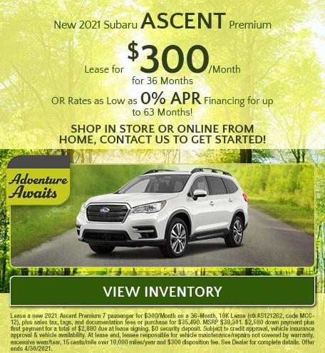 New 2021 Subaru Ascent Premium - April