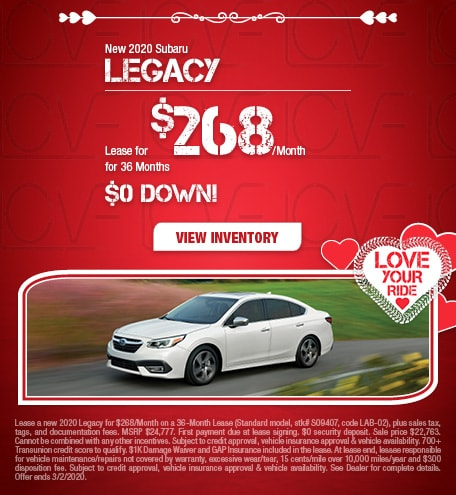 New 2020 Subaru Legacy - Feb