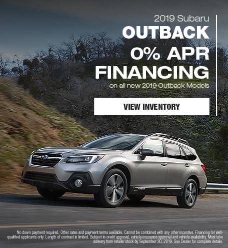 New 2019 Subaru Outback - September