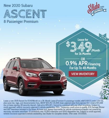 New 2020 Subaru Ascent - January