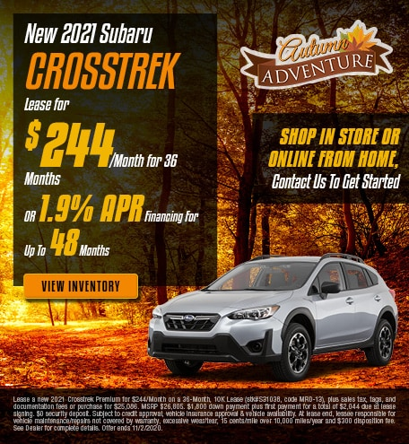 New 2021 Subaru Crosstrek - Oct