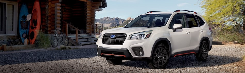 2020 Subaru Forester outside of cabin