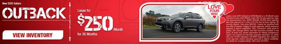 New 2020 Subaru Outback - Feb