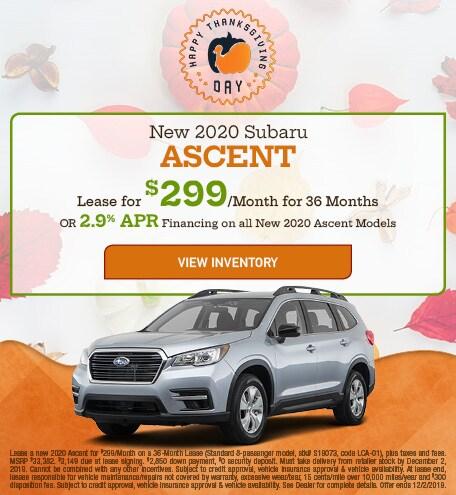 New 2020 Subaru Ascent - Nov