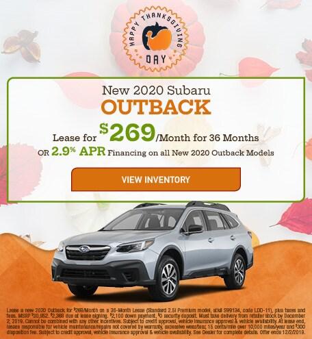 New 2020 Subaru Outback - Nov