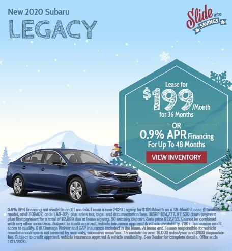 New 2020 Subaru Legacy - January