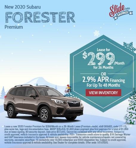 New 2020 Subaru Forester - January