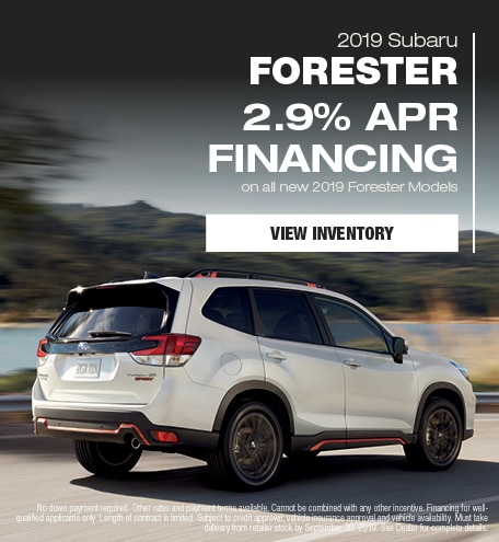 New 2019 Subaru Forester - September