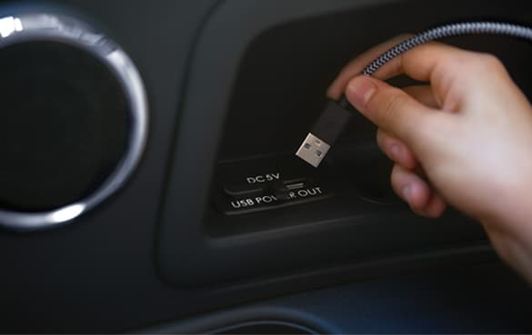 device charging in vehicle