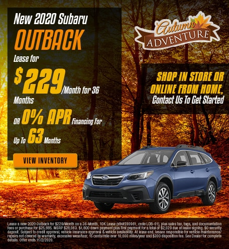 New 2020 Subaru Outback - Oct