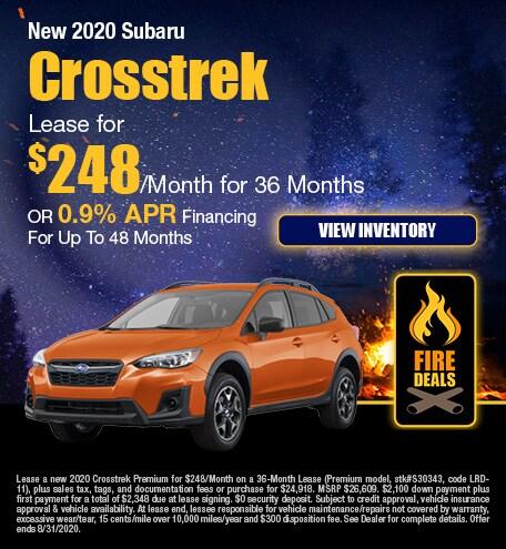 New 2020 Subaru Crosstrek - August