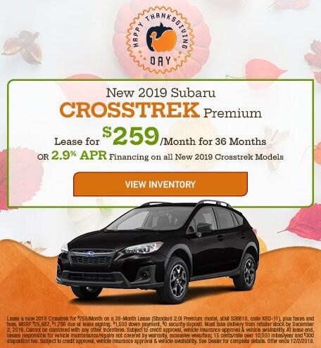 New 2019 Subaru Crosstrek Premium - Nov