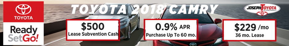 Financing Offer : 0.9% APR for 60 months on select Toyota Camry models