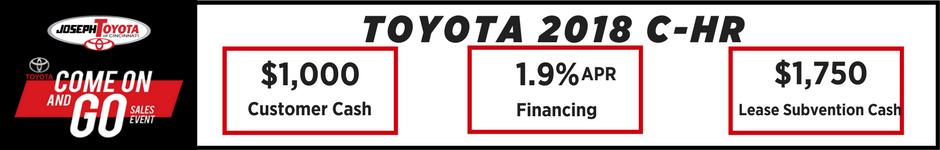 $1,000 offer on select Toyota C-HR models
