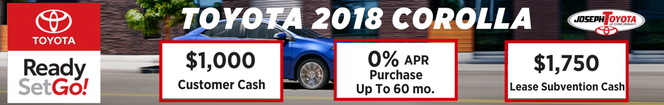 $1,000 offer on select Toyota Corolla models
