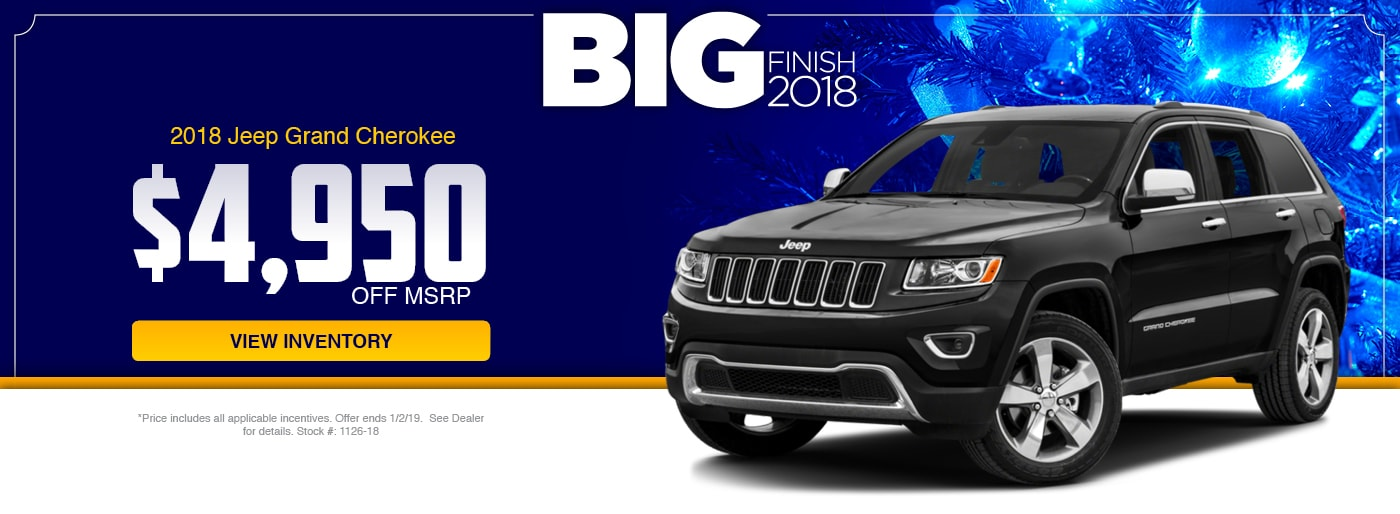 2018 Jeep Grand Cherokee Special at Junction Jeep in Chardon, OH